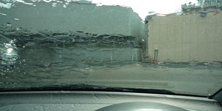 ガラス撥水コート施工前